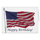 cartão de aniversário da bandeira americana