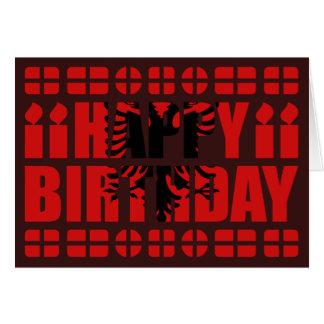 Cartão de aniversário da bandeira de Albânia