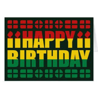 Cartão de aniversário da bandeira de Bolívia
