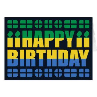 Cartão de aniversário da bandeira de Gabon