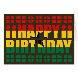 Cartão de aniversário da bandeira de Ghana
