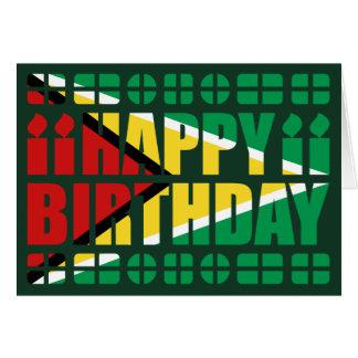 Cartão de aniversário da bandeira de Guyana