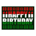 Cartão de aniversário da bandeira de Hungria