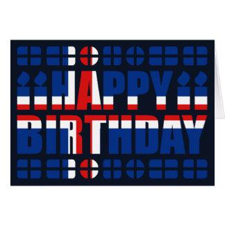 Cartão de aniversário da bandeira de Islândia