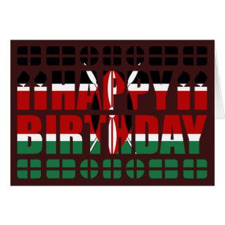 Cartão de aniversário da bandeira de Kenya