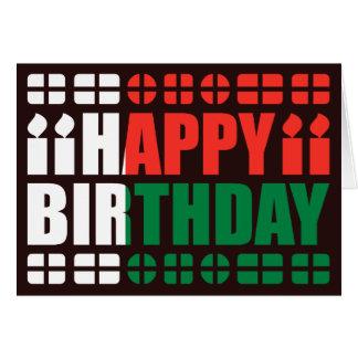 Cartão de aniversário da bandeira de Madagascar