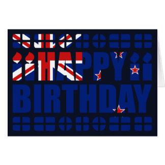 Cartão de aniversário da bandeira de Nova Zelândia