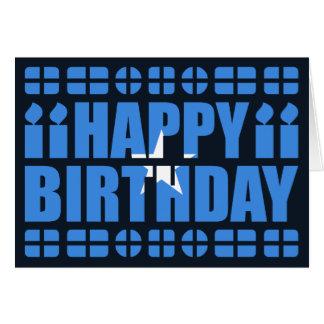 Cartão de aniversário da bandeira de Somália