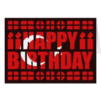 Cartão de aniversário da bandeira de Turquia
