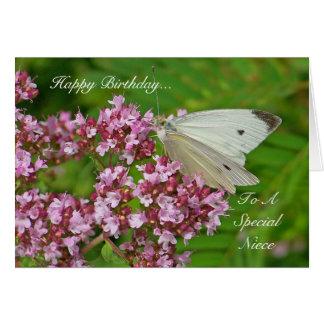 Cartão de aniversário da borboleta para uma