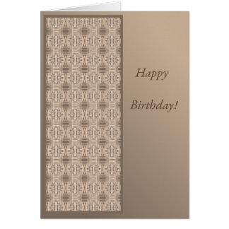 Cartão de aniversário da casa de campo do oceano