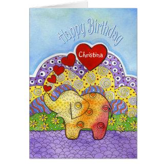 Cartão de aniversário da criança lunática do