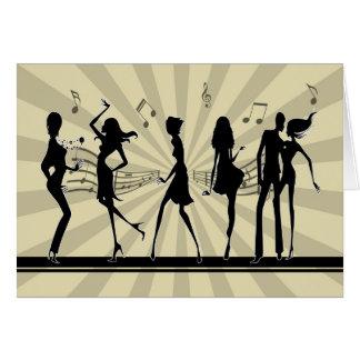 Cartão de aniversário da dança da dança da