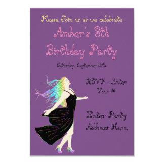Cartão de aniversário da deusa do arco-íris
