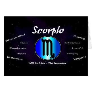 Cartão de aniversário da Escorpião