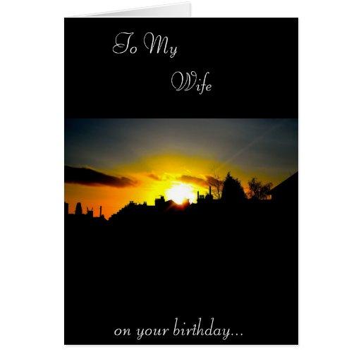 Cartão de aniversário da esposa