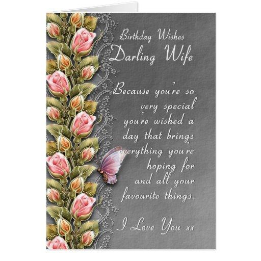 cartão de aniversário da esposa - cartão de aniver