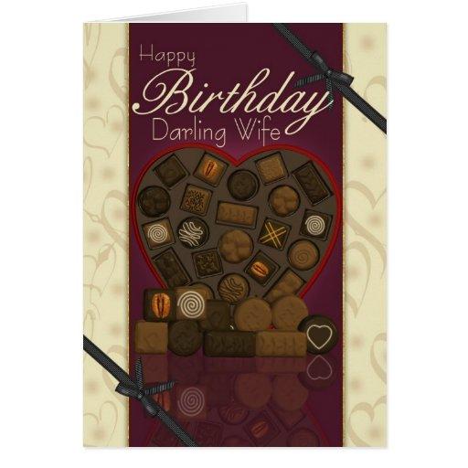 Cartão de aniversário da esposa - chocolates