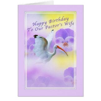 Cartão de aniversário da esposa do pastor