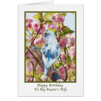 Cartão de aniversário da esposa do pastor com papa