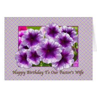 Cartão de aniversário da esposa do pastor com petú