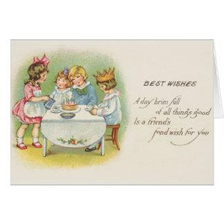 Cartão de aniversário da festa de aniversário das