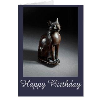 Cartão de aniversário da fibra (deusa do gato