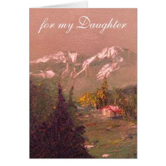 Cartão de aniversário da filha