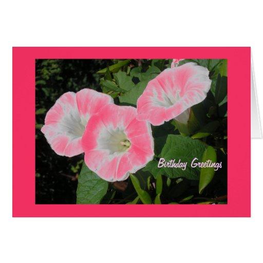 Cartão de aniversário da flor