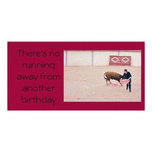 Cartão de aniversário da foto cartão com foto personalizado