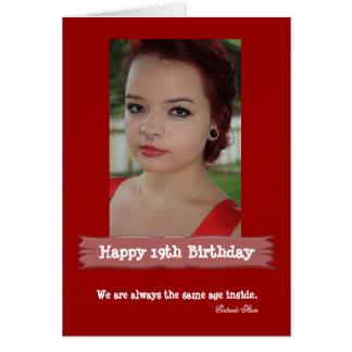 Cartão Cartão de aniversário da foto da idade