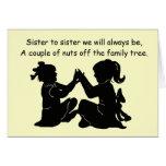 Cartão de aniversário da irmã