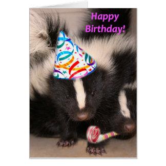 Cartão de aniversário da jaritataca