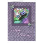 Cartão de aniversário da libélula