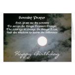 Cartão de aniversário da Lua cheia da oração da se