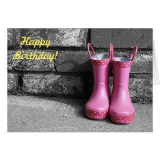 Cartão de aniversário da menina