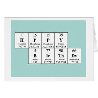 Cartão de aniversário da mesa periódica