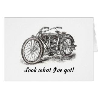 Cartão de aniversário da motocicleta