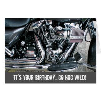 Cartão de aniversário da motocicleta de Harley