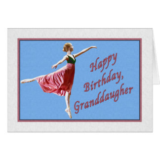 Cartão de aniversário da neta com bailarina