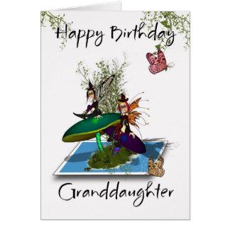 Cartão de aniversário da neta - fadas góticos boni