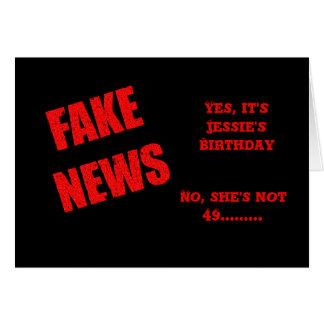 Cartão de aniversário da NOTÍCIA FALSIFICADA 50th