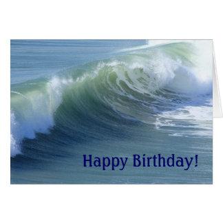Cartão de aniversário da onda de oceano para