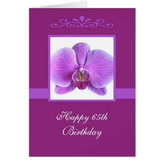 Cartão de aniversário da orquídea 65th