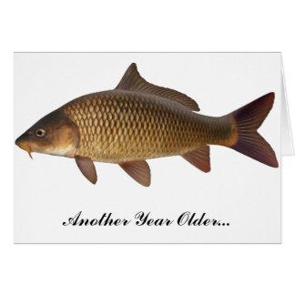 Cartão de aniversário da pesca da carpa