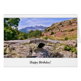Cartão de aniversário da ponte de Ashness