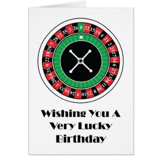 Cartão de aniversário da roda de roleta