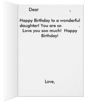 Cartão de aniversário da sereia da filha