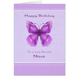 Cartão de aniversário da sobrinha - borboleta roxa