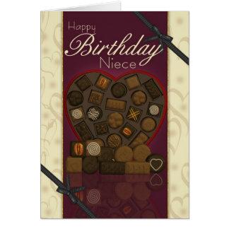 Cartão de aniversário da sobrinha - chocolates